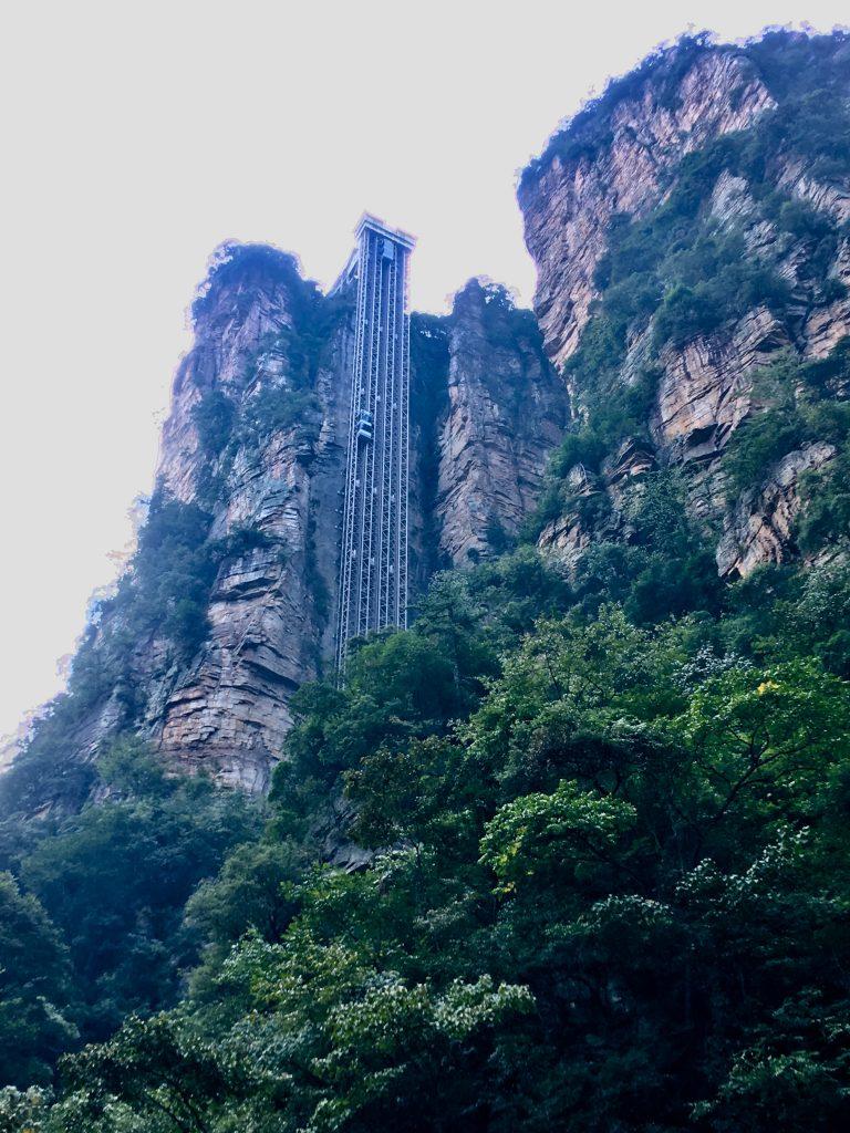Ascensore Bailong all'interno del parco di Zhangjiajie