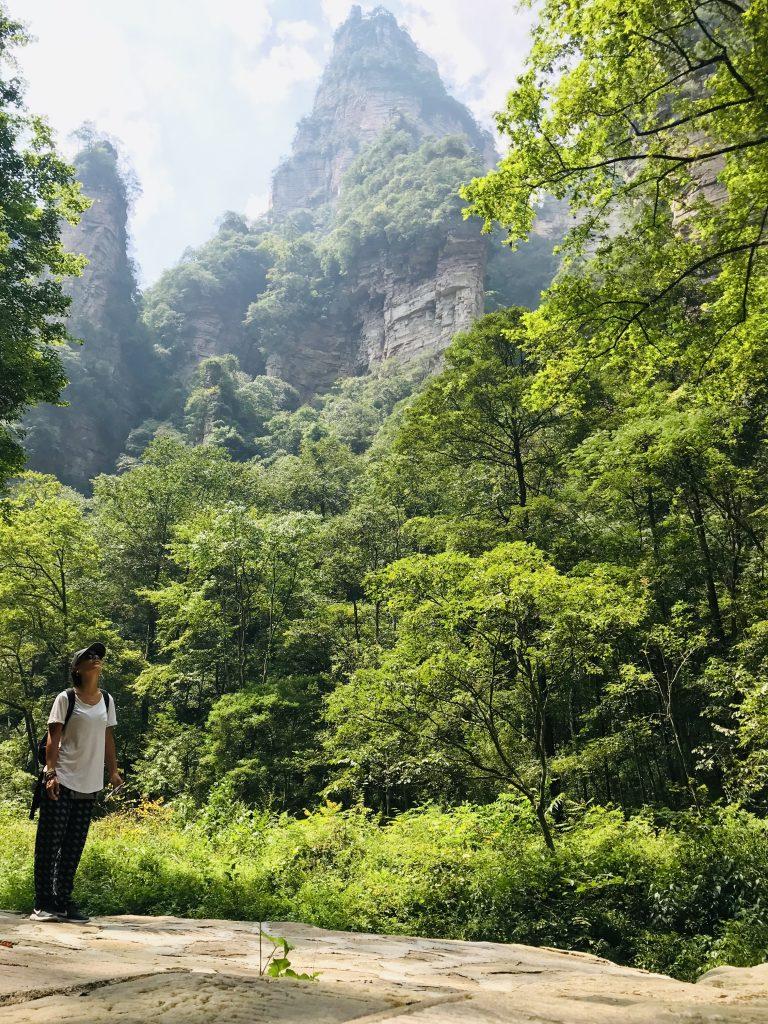 Percorso a piedo nella parte bassa del Parco di Zhanjiajie