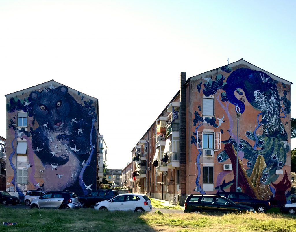 i murales di San Basilio, a Roma uno dei 5 luoghi extra