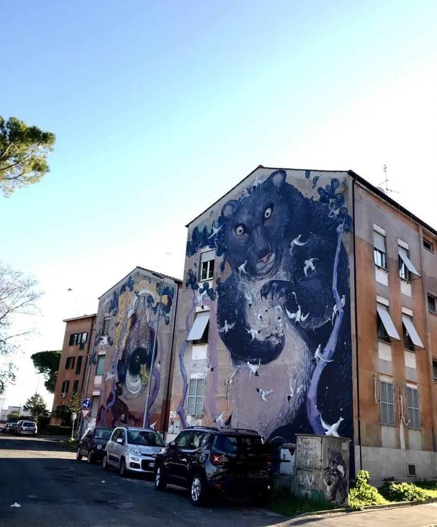 Murales a san Basilio, a Roma uno dei 5 luoghi extra