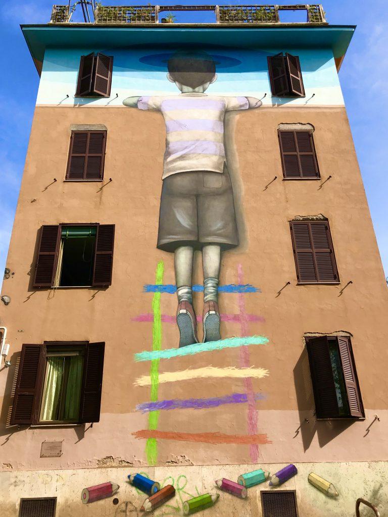 Murale il Bambino redentore, a Roma uno dei 5 luoghi extra
